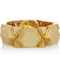 Eddie Borgo Paradox Goldplated Bracelet gold - Lyst