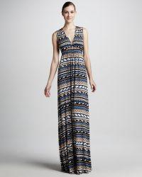Rachel Pally Long Folkprint Caftan Dress - Lyst