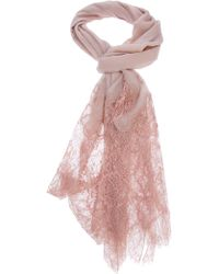 Valentino Lace Scarf pink - Lyst