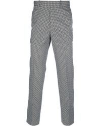 Alexander McQueen Geometric Print Trouser - Lyst