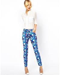 ASOS Collection Asos Trousers in Bold Floral Print - Lyst