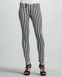 Hudson Kristy Striped Skinny Jeans - Lyst