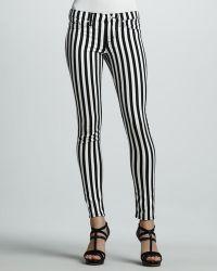 Hudson Kristy Striped Skinny Jeans - Lyst