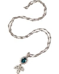 Mawi - Silver Plated Daisy Gemstone Pendant Necklace - Lyst