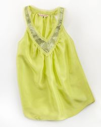 Rebecca Taylor Yellow Party Top - Lyst