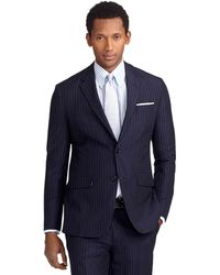Brooks Brothers Milano Fit Navy Stripe Suit - Lyst