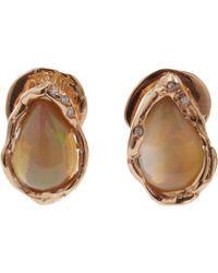 Lucifer Vir Honestus - Black Opal Diamond Stud Earrings - Lyst