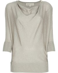 Michael by Michael Kors Draped Front Blouse - Lyst