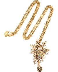 Bijoux Heart | 24karat Goldplated Swarovski Crystal Necklace | Lyst