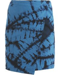 Boy by Band of Outsiders - Tie Dye Wrap Skirt - Lyst