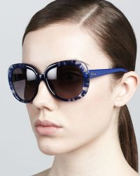 Dior Rounded Flower Sunglasses - Lyst