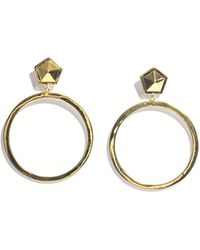 Eddie Borgo Paradox Hoop Earrings - Lyst