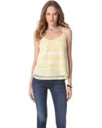 Madison Marcus Patterned Lace Tank - Lyst