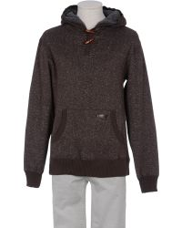 Billabong Hooded Sweatshirt brown - Lyst