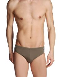 Calvin Klein Khaki Brief Trunks - Lyst