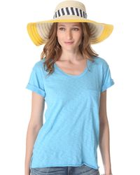 Juicy Couture - Wide Brim Straw Sunhat - Lyst