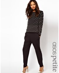 Asos Peg Pants In Jersey black - Lyst