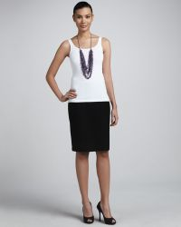 Eileen Fisher Crepe Pencil Skirt - Lyst