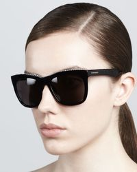Givenchy Crystal Trim Square Sunglasses - Lyst