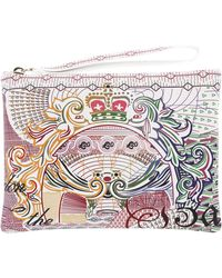 Mary Katrantzou Clutch in Print Leather - Lyst