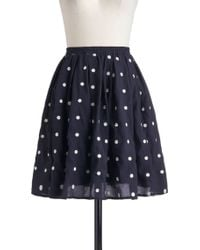 ModCloth Give It Your Best Dot Skirt - Lyst