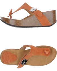 Scholl Orange Wedges - Lyst