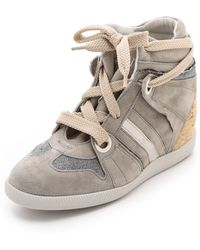 Serafini - Manhattan Cork Wedge Sneakers - Lyst