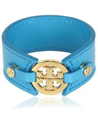 Tory Burch Skinny Double Snap Cuff blue - Lyst