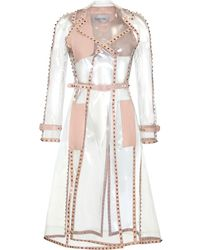 Valentino Transparent Rockstud Trench Coat transparent - Lyst