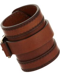 Givenchy Leather Stitched Cuff - Lyst