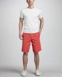 Splendid - Cotton Shorts Watermelon - Lyst