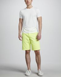 Splendid - Cotton Shorts Neon Yellow - Lyst