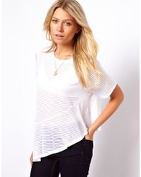 ASOS Collection Tshirt with Frill Hem - Lyst