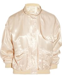 Girl. By Band Of Outsiders Satin-Twill Bomber Jacket - Lyst