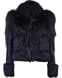 Lanvin Vault Mixed Fur Jacket - Lyst