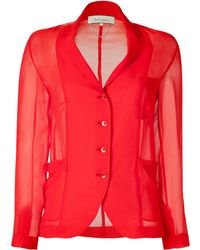 Paul Smith Red Sheer Blazerblouse - Lyst