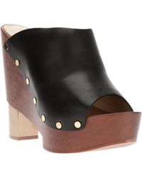 Pollini Block Heel Sandal - Lyst