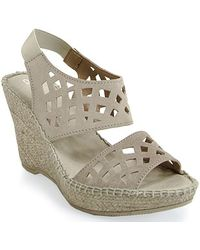 Andre Assous   Denise Cut Out Sling-back Wedge Espadrille in Taupe   Lyst