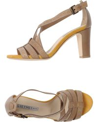 Grey Mer High-Heeled Sandals - Lyst
