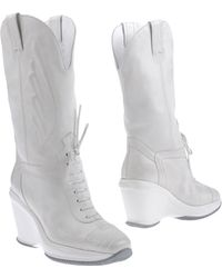 Hogan By Karl Lagerfeld Ankle Boots - Lyst