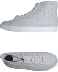 Nike High-Top Trainers gray - Lyst