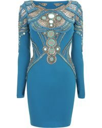 Matthew Williamson Maharajah Mirror Embroidered Mini Dress - Lyst
