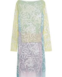 Christopher Kane Tulle Embroidered Dress - Lyst