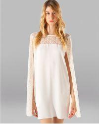 Maje Cape Dress Adequat - Lyst