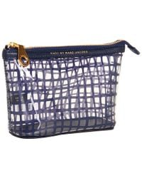 Marc By Marc Jacobs Checkmate Landscape Zip Pouch - Lyst