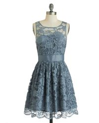 ModCloth When The Night Comes Dress in Smoke - Lyst