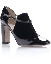 Valentino Leather and Velvet Mary Jane - Lyst