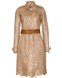 Burberry Prorsum Perforated Leather Trench Coat - Lyst