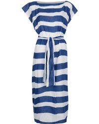 Daniela Gregis Belt Detail Dress - Lyst