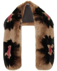 Miu Miu Brown Fur Stole - Lyst